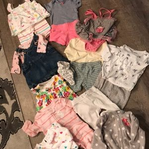 Bundle of 17/0-3 months + girls clothing items